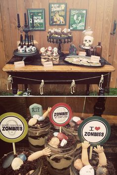 Vintage zombie party home decor fun zombies halloween party ideas theme party