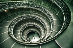 Musei Vaticani's stairway. 
