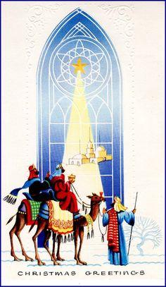 #Nativity #Christmas #wisemen Christmas Card Images, Vintage Christmas Cards, Holy Night, Holi, Nativity, O Holy Night, Christmas Nativity, Birth