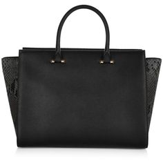 Amanda Wakeley The Eastwood Zip Top Handbag (3,060 CAD) ❤ liked on Polyvore featuring bags, handbags, tote bags, malas, purses, genuine leather handbags, structured purse, structured tote bag, structured tote and genuine leather tote
