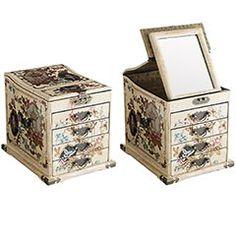 Ivory Jewelry Box with Mirror, Pier 1, $79.95