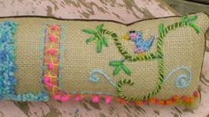 Freehand Embroidered Bohemian Letters Name Pillow by YelliKelli, $50.00
