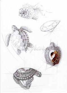 Chopard.Turtle ring sketch...♡