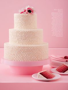 One girl cookies cake from Martha Stewart weddings. Want to make a smaller b'day version of this! (via ritzy bee)