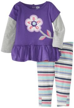 Watch Me Grow! by Sesame Street Baby-Girls Infant 2 Piece ABCDE Flower Dress And Stripped Pant, Purple, 24 Months Watch Me Grow! by Sesame Street,http://www.amazon.com/dp/B00CE3J04S/ref=cm_sw_r_pi_dp_Zj6ltb1MQFWC83TF