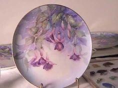 China Painting Tutorial - Fuchsias - Barbara Duncan