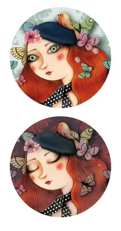 Epic Illustrations by Marie Desbons Art Et Illustration, Illustrations, Art Fantaisiste, Love Drawings, Whimsical Art, Wall Art Designs, Oeuvre D'art, Painting & Drawing, Decoupage