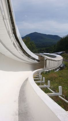 Lake Placid bobsled track.  Ahh, the good old days!  How many times have I been down this track...