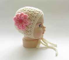 Baby bonnetNewborn bonnetcrochet baby by Amaiahandmade on Etsy