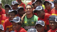The rising star in the world of Rugby League admits that he never saw himself pulling on the green and gold of Australia this early, but many believe that Sione Mata'utia is more than ready to repr… Open Arms, Rugby League, Green And Gold, Opportunity, Strong, Men, Guys