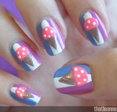 thatleanne: Chill out with ice cream nails!