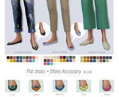 Flat Shoes + Shoes Accessory by Liliili-Sims [ [ [ The Sims, Sims 4 Cas, Sims Cc, Play Sims 4, Sims 4 Cc Shoes, Studded Flats, Sims 4 Cc Finds, Sims 4 Clothing, Sims 4 Custom Content