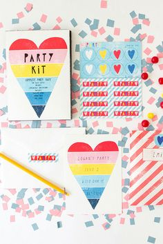 Yellow Owl Workshop Rainbow Heart Party Kit, $16, available at Yellow Owl Workshop