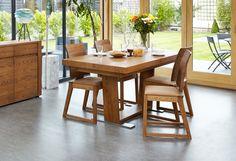 Olten - Extending Dining Table In Oak Finish