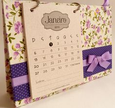 Calendário 2013 - Provençal Lilás