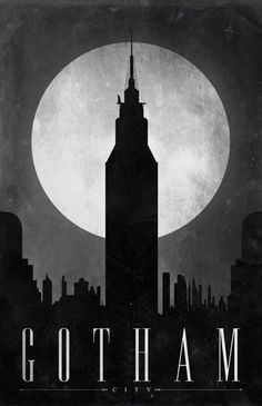 """Gotham City"" poster, referencing Batman, part of the series ""Comic Book Travel Posters."" Concept by Justin Van Genderen. Batman Poster, Batman Hq, Batman Arkham City, Batman Arkham Knight, Poster S, Batman Robin, Comic Poster, Superhero Poster, Batman Wall Art"