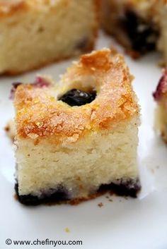 Blueberry Boy Bait Recipe (Eggless and Lightened)