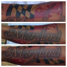 Maryland & state flag tattoo