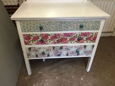 To Order Floral Dressing Table, Distressed, Shabby Chic, Bedroom Drawers in Home, Furniture & DIY, Furniture, Dressing Tables | eBay