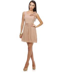 USD$109.20 - Darling Beth Blush Pink Dress - www.weddingdressbraw.com