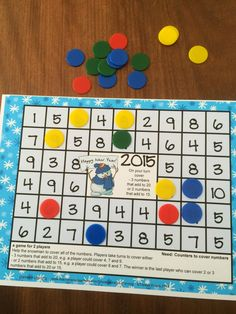 FREEBIES - New Year Math Games is a set of 4 math board games by Games 4 Learning to celebrate the start of the 2015 New Year!