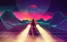 New Retro Wave, Synthwave, 1980s, Neon, Car, Retro Games HD Wallpaper Desktop Background
