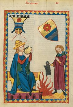 Codex Manesse, fol. 349r, 1305-1340, Zürich.