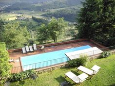 Villa I spent time at overlooking the Tuscan countryside near Lucca