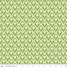 Emily Taylor for Riley Blake Designs - VINTAGE VERONA - Vintage scales in Green - 1 Yard