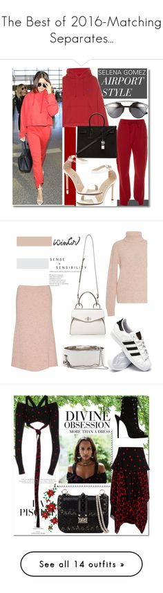 """""""The Best of 2016-Matching Separates..."""" by nfabjoy ❤ liked on Polyvore featuring Vetements, Manolo Blahnik, Yves Saint Laurent, Christian Dior, selenagomez, CelebrityStyle, athleisure, celebairportstyle, ORLEY and Handle"""