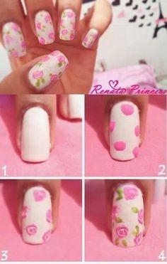 Diy floral nails