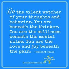 Be the silent watcher...