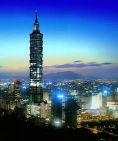 1670 ft Taipei World Financial Center Xinyi District Taipei Taiwan tallest and largest green building in the world Around The World In 80 Days, Places Around The World, The Places Youll Go, Travel Around The World, Places To See, Around The Worlds, Taipei 101, Taipei Taiwan, Wonderful Places