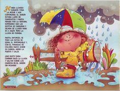 Contando bajo la lluvia   Para los peques de la casa.