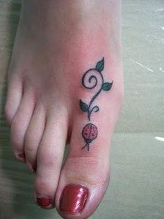 #ladybug #tattoo #foot #girly