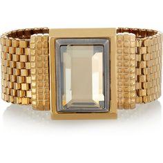 Lanvin Swarovski crystal bracelet ❤ liked on Polyvore