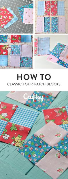 Sewing four-patch quilt blocks is fun and fast! This classic block is a favorite of quilters. @craftsy