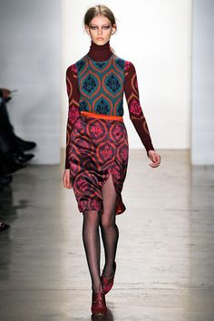 Sophie Theallet, Fall 2012, wallpaper-inspired patterns/knits
