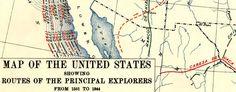 Principal U.S. explorers from 1501 to 1844