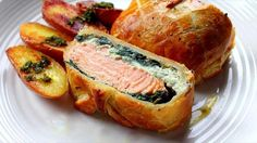Steves Cooking: Salmon en croute by Steven Dolby Salmon Recipes, Fish Recipes, Seafood Recipes, Great Recipes, Cooking Recipes, Favorite Recipes, Healthy Recipes, Recipes For Lent, Pastry Recipes