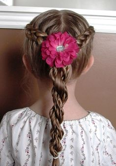 Pretty Twist Braid With Red Bow | Cute Hairstyles For School