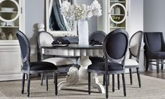 Black&white Barocco for French round dining