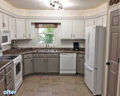 A painted cabinets white/grey combo - working with what you got example...