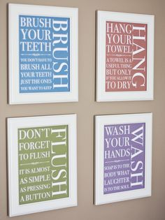 Print Your Own - Bathroom Signs - Traditional. $14.00, via Etsy.