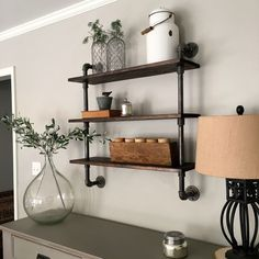 DIY: Pipe Shelving – Mindfully Gray