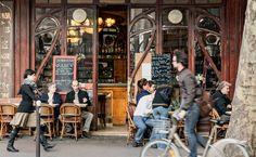 Paris. Franca. Bistrô no hypado 11º arrondissement