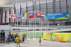 Rio2016 Olympics Carioca Arena 2,  an indoor stadium in Barra da Tijuca in Rio de Janeiro, Brazil. The venue hosted judo and wrestling at the 2016 Summer Olympics.