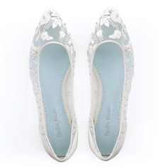 embroidered beaded floral criss cross comfortable ivory wedding flats