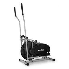 cool Klarfit Orbifit Basic Elliptical Cross Trainer (Adjustable Resistance, Training Computer & Non-Slip Treads) - Black