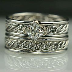 Braided Unique Wedding Rings and Handmade Unique Wedding Bands